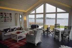 Relax, mat och umgängesrum med fantastisk havsutsikt
