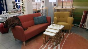 2-sits Nova soffa samt fåtölj. Svensktillverkat från Swedese. NU 18.350. Op 26.210.