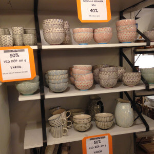Nordal keramik 40%. Vid köp av 6 varor 50%